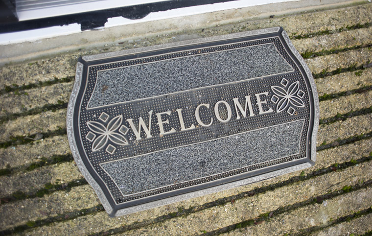Photo-welcome mat